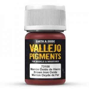 Pigment - Brown Iron Oxide - 30 ml, Vallejo 73108