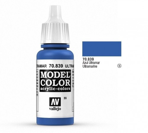 Farba akrylowa - Model color (055) Ultramarine, 17ml, Vallejo 70839