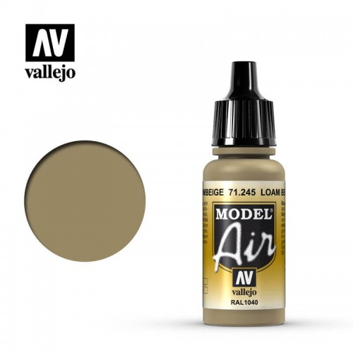 Farba akrylowa Model Air Loam Beige 17ml, Vallejo 71245