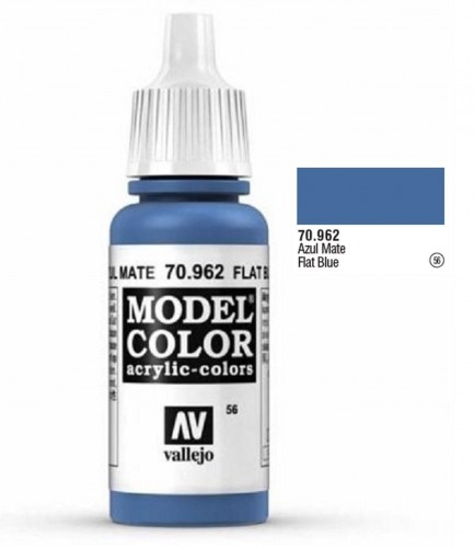 Farba akrylowa Model color 056 Flat Blue 17ml, Vallejo 70962