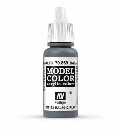 Farba akrylowa - Model color (162) Basalt Grey 17ml, Vallejo 70869